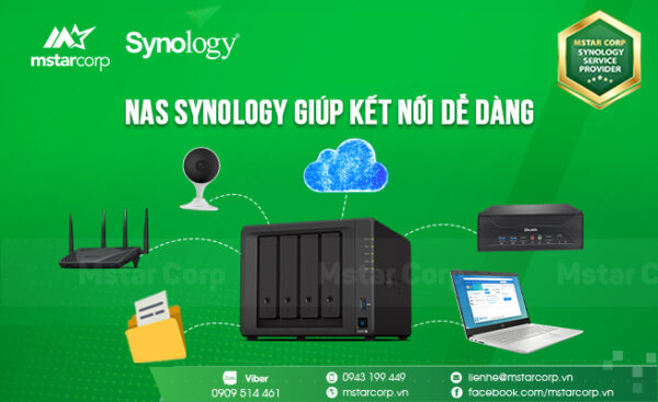 NAS Synology giúp kết nối dễ dàng