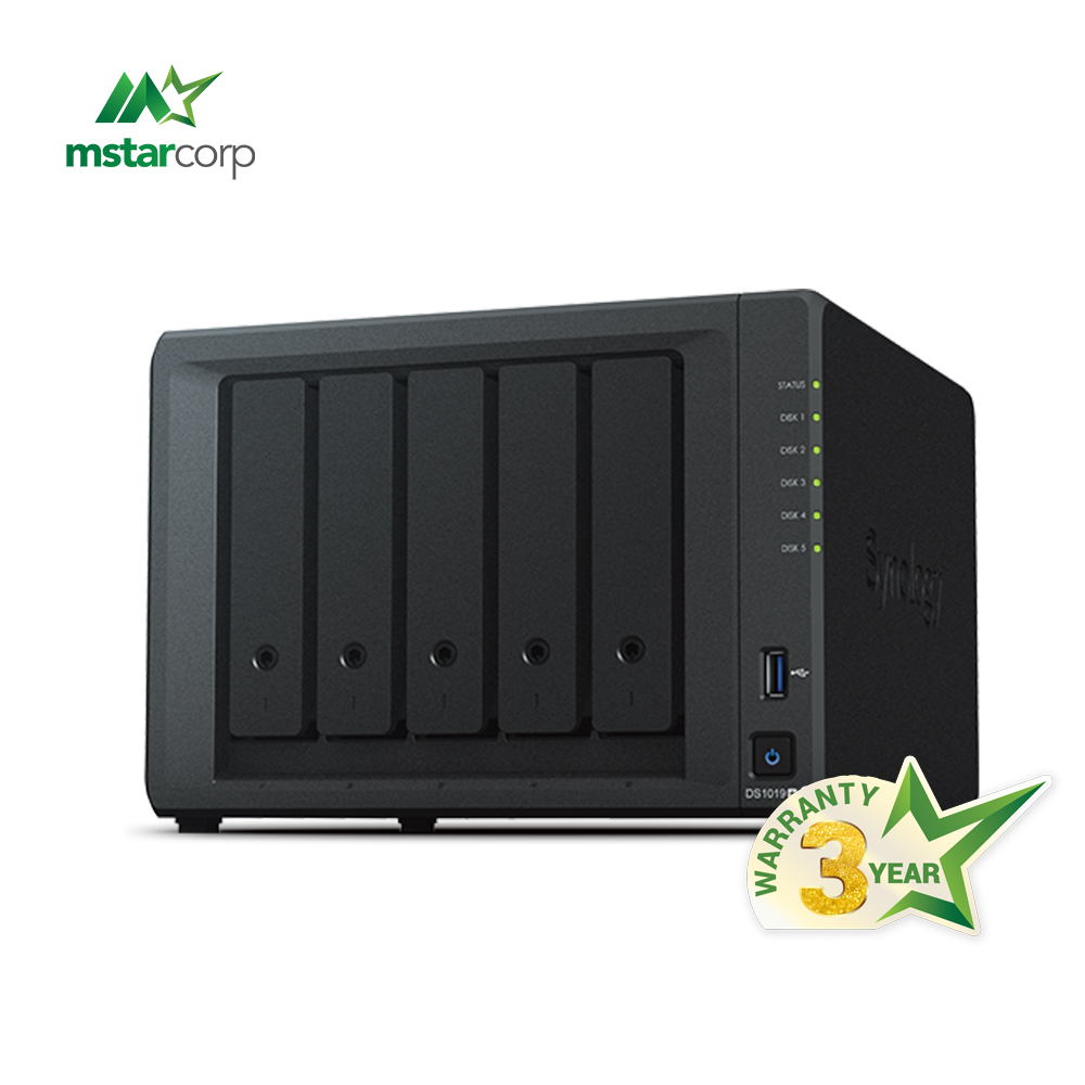 Thiết Bị Lưu Trữ Dữ Liệu NAS Synology DS1019+ (RAM 8GB)