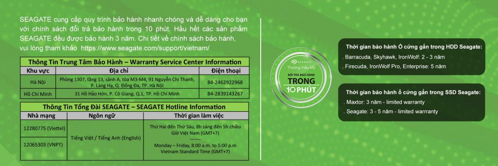 Ổ cứng HDD Seagate IronWolf 10TB - ST10000VN0008