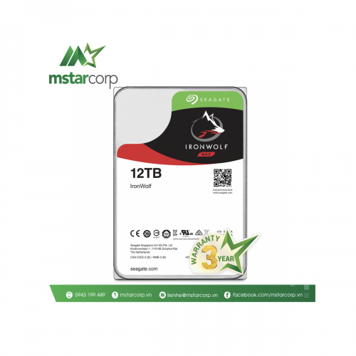 Ổ cứng HDD Seagate IronWolf 12TB - ST12000VN0008