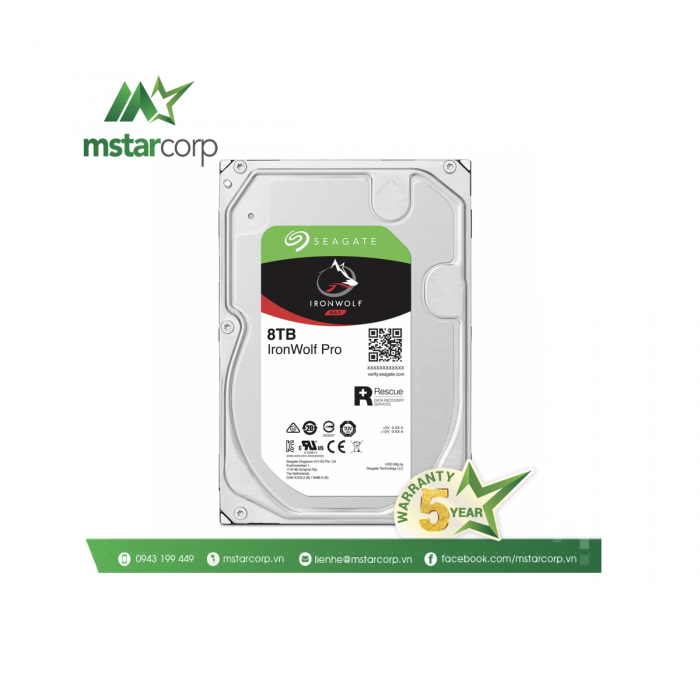 Ổ cứng HDD Seagate IronWolfPro 8TB - ST8000NE001