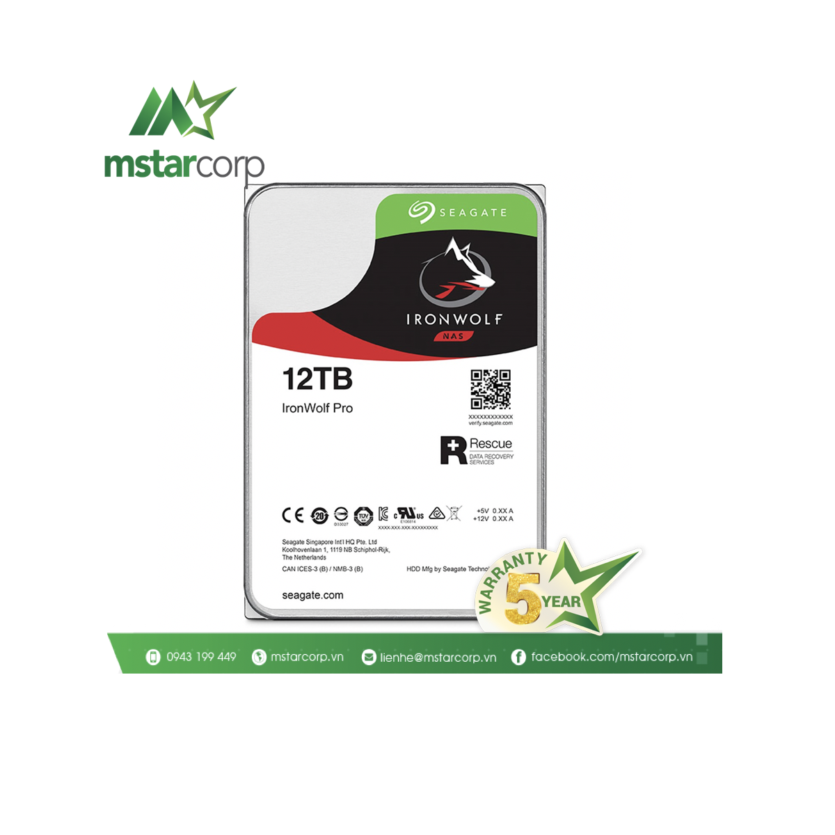 Ổ cứng HDD Seagate IronWolfPro 12TB - ST12000NE0008