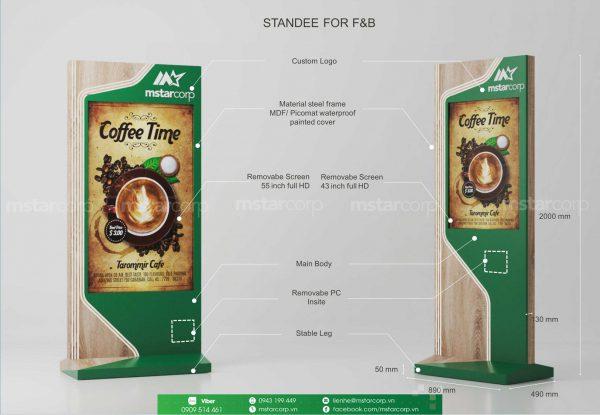 Standee điện tử cho F&B_COFFEE