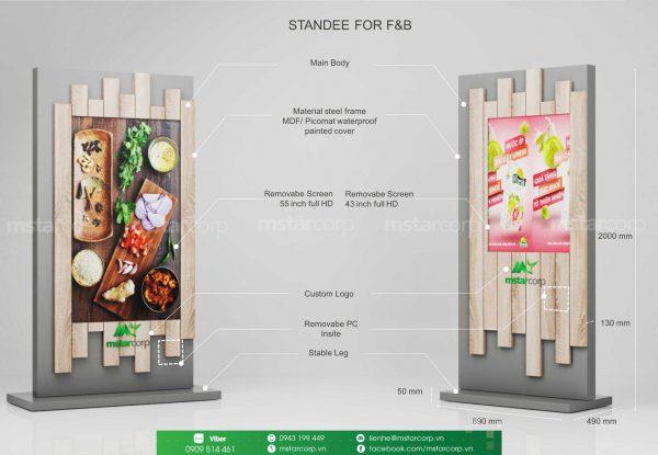 standee điện tử cho F&B