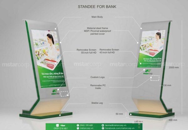standee điện tử cho ngân hàng