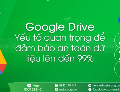 Google Drive – Yếu tố quan trọng để đảm bảo an toàn dữ liệu lên đến 99%