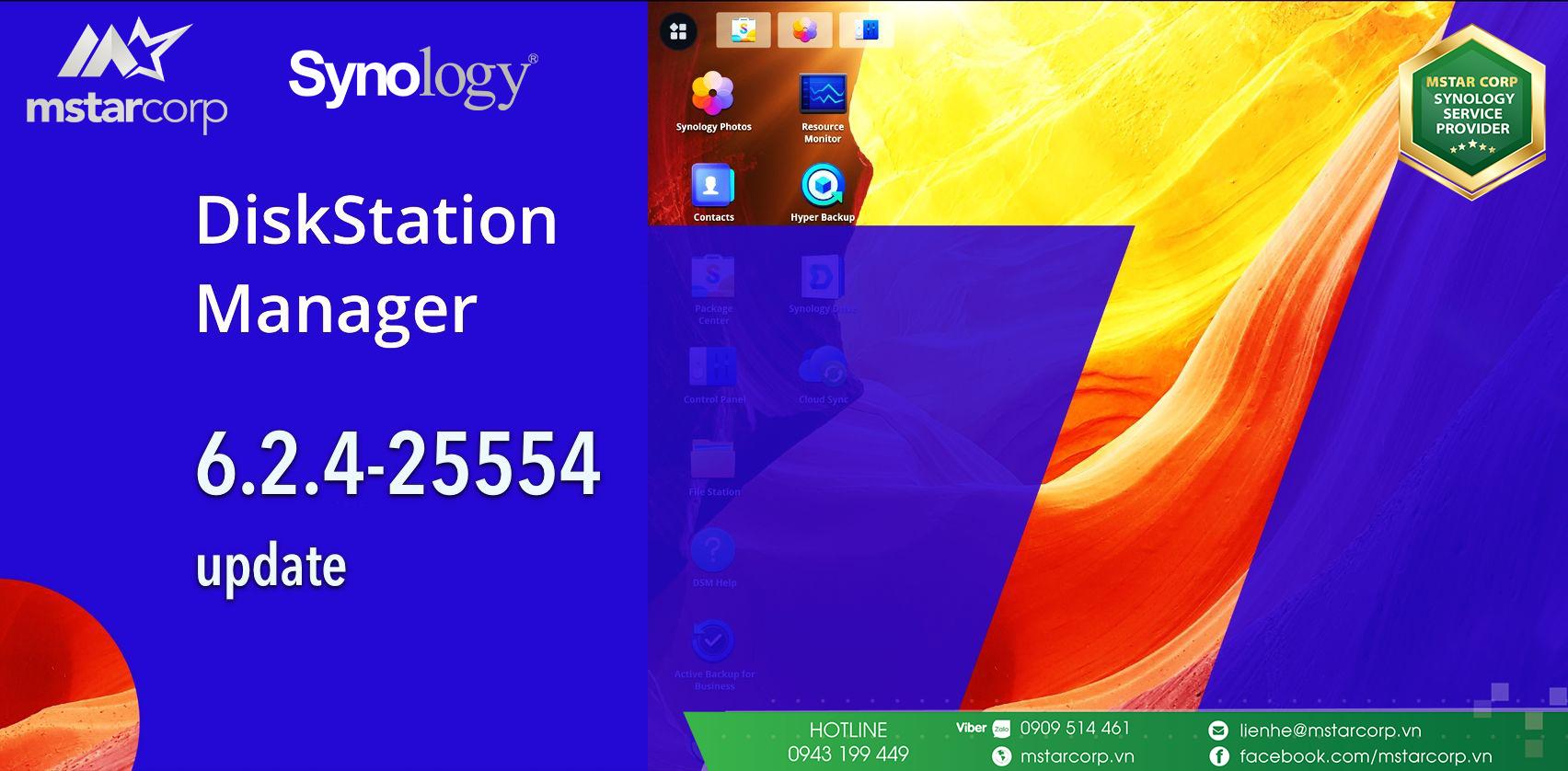 Synology chính thức phát hành DSM 6.2.4