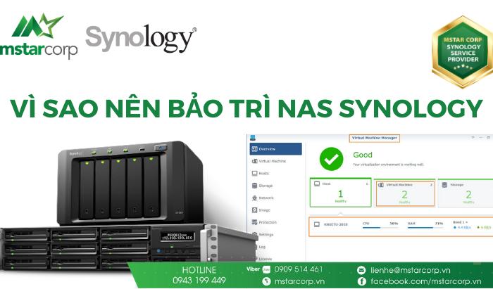 Vì sao nên bảo trì NAS Synology