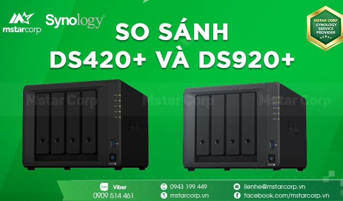 So sánh DS420+ và DS920+