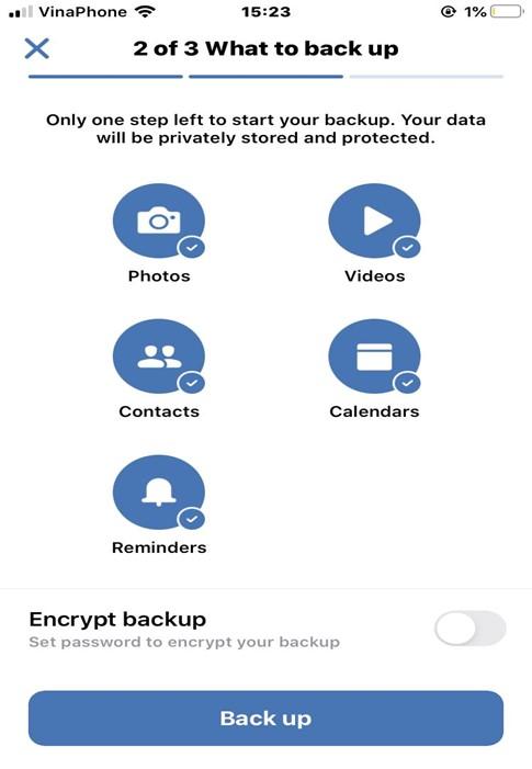 Cho phép Acronis True Image truy cập vào dữ liệu cá nhân