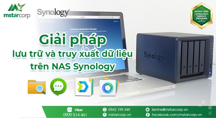 giải pháp lưu và truy xuất dữ liệu trên nas synology