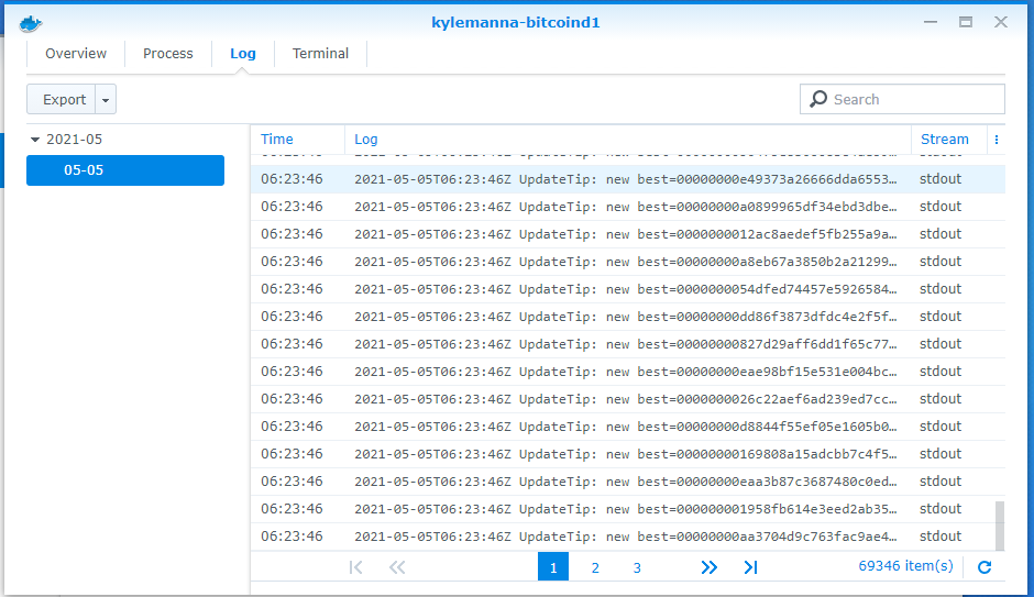 Hướng dẫn chạy Bitcoin Node trên NAS Synology.