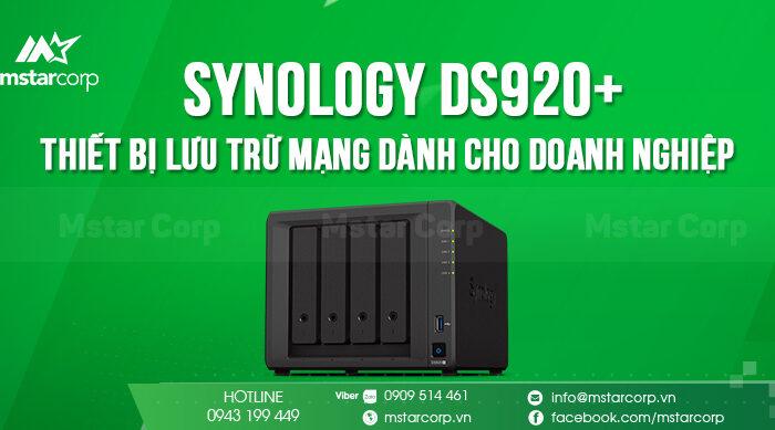 Synology DS920+ - Thiết bị lưu trữ mạng dành cho doanh nghiệp