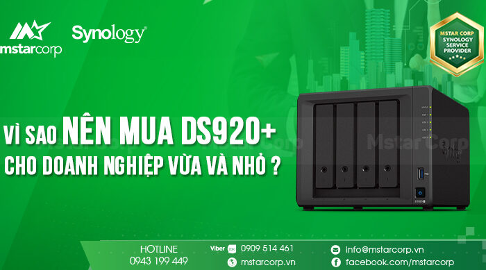 Vì sao nên mua DS920+ cho doanh nghiệp vừa và nhỏ ?