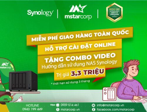 Mua NAS Synology tặng ngay tài khoản truy cập bộ video hướng dẫn sử dụng NAS cơ bản trị giá 3,3 triệu.