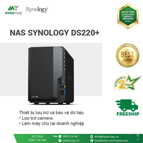 Thiết bị lưu trữ dữ liệu NAS Synology DS220+