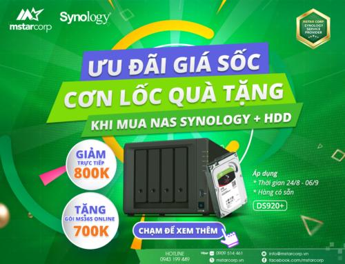 Mua NAS Synology + HDD kèm quà tặng cực sốc